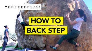 How to BACK STEP    Climbing Technique for Beginner Climbers ( ft. Jenn Sends ) by  rockentry