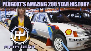 AD - Vicki explores the 200 years of Peugeot history | Fifth Gear by Fifth Gear
