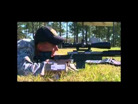 86-year-old veteran sniper still has perfect aim.