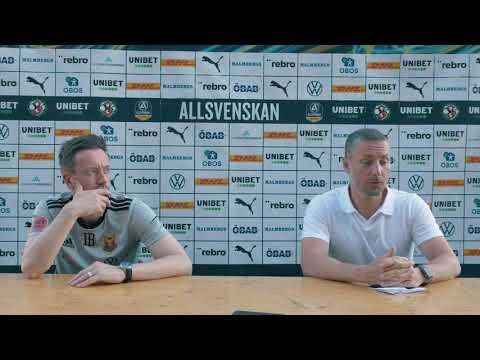 Presskonferens efter ÖSK - ÖFK