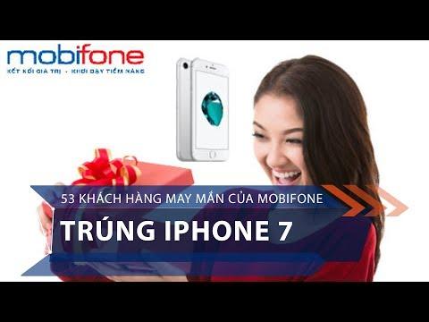 53 khách hàng may mắn của Mobifone trúng iPhone 7 | VTC1 - Thời lượng: 44 giây.