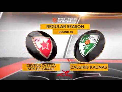 EuroLeague Highlights RS Round 10: Crvena Zvezda mts Belgrade 79-88 Zalgiris Kaunas
