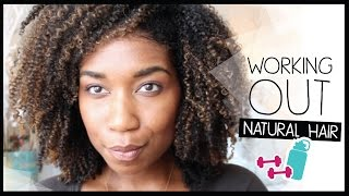 GRWM: Preparing My Natural Hair to Work Out! Natural Hair Before + After Exercise Tips - YouTube