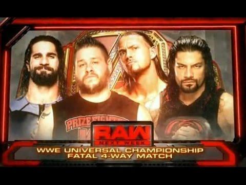 WWE RAW 29/8/2016 - Fatal 4-Way Universal Championship - WWE 2K16