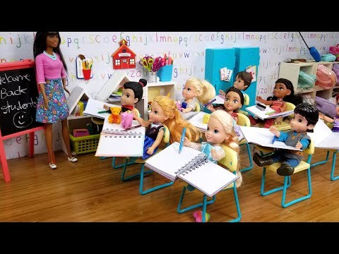 Elsa and Anna toddlers - new Barbie teacher & students