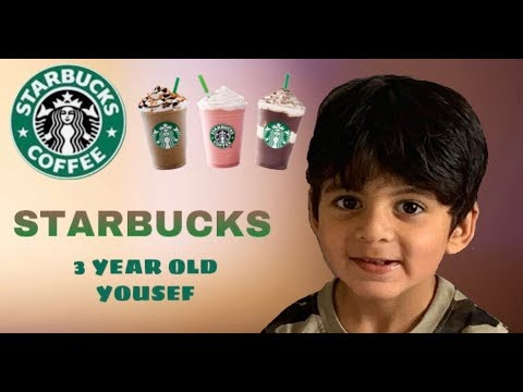 3 YEAR OLD YOUSEF AT STARBUCKS!☕️