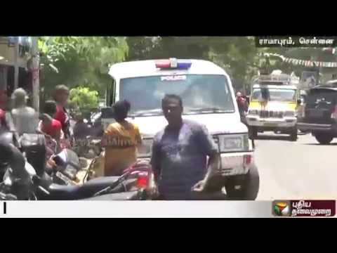 Petrol-Bomb-thrown-at-a-vegetable-vendors-house-in-Ramapuram-Chennai
