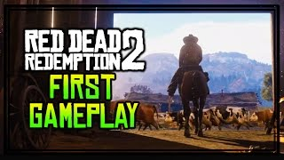 RED DEAD REDEMPTION 2 FIRST GAMEPLAY + INITIAL REACTIONS! (RDR2 Official Trailer)