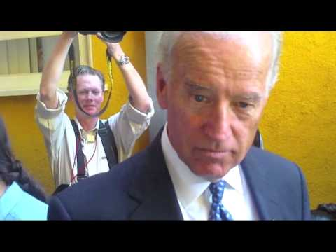 Vice President Biden is confronted with evidence of criminal demolitions on 9/11/01
