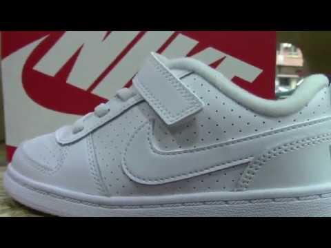 Modelos de uñas - NIKE COURT BOROUGH BLANCA  Nike Court Niño Blancas