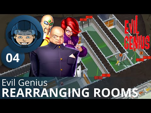 REARRANGING ROOMS - Evil Genius: Ep. #4 - Gameplay & Walkthrough