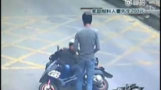 Кунг-фу водитель отомстил вору мобильного телефона в Китае