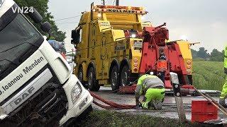 Video 28.05.2019 - VN24 - Difficult salvage of a slipped semi-trailer truck MP3, 3GP, MP4, WEBM, AVI, FLV Juli 2019