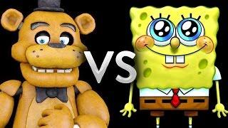 Five Nights at Freddy's animatronics Freddy Fazbear, Chica the Chicken, Bonnie the Bunny and Foxy the Pirate vs SpongeBob SquarePants left 4 dead 2 mod