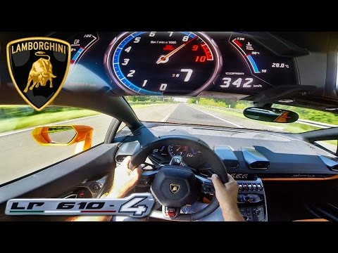 lamborghini huracan on autobahn. Black Bedroom Furniture Sets. Home Design Ideas