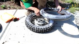 6. Yamaha TTR90 Rear Tire / Tube change dirt bike How to replace tube