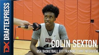 Colin Sexton USA Basketball U17 Training Camp Interview