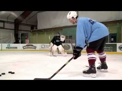 On Ice Shooting and Drills With a Pro Goalie