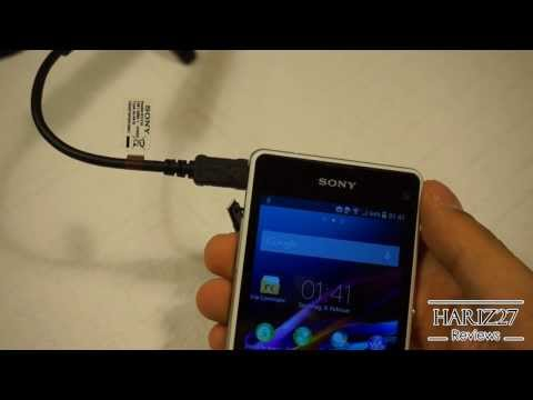 how to connect usb to sony xperia e