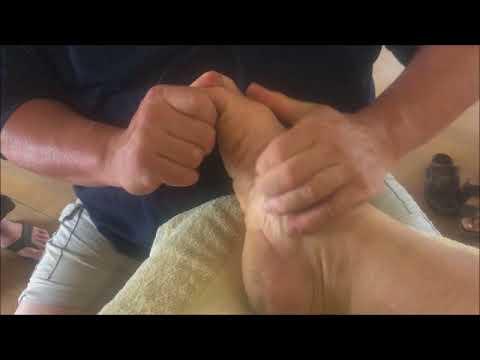 Deep Foot Reflexology Raynor Massage Style. Brandon working on Shane