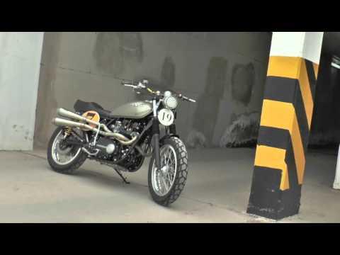 Kawasaki 1976 Street Tracker modificada