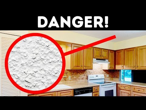 If You Have Popcorn Ceiling, You Should Be Careful