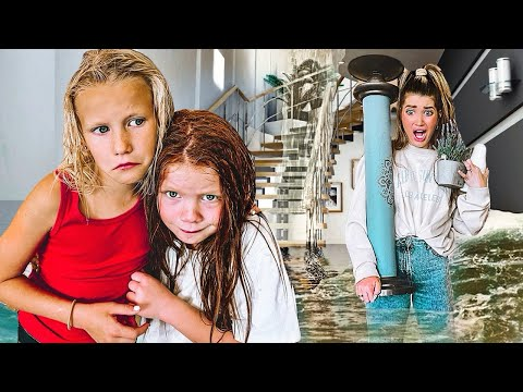 Our House Is FLOODING!! EarthQuake and Flood DRILL with 16 KiDS!