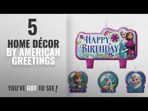 Birthday greetings - Top 10 Home Décor By American Greetings [ Winter 2018 ]: Disney Frozen Birthday Candle Set Assorted