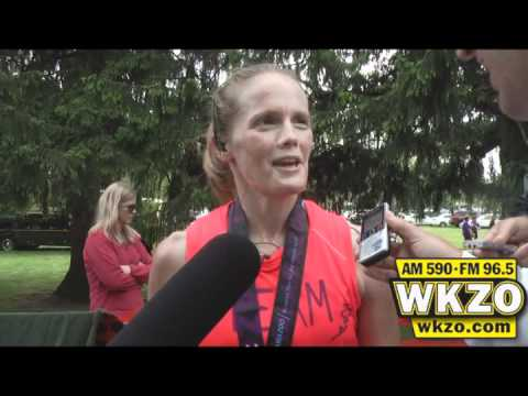 Kalamazoo Half-Marathon winner Melissa Mantel speaks with WKZO following her victory on Sunday May 6th, 2012.