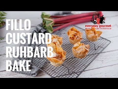 Fillo Custard Rhubarb Bake | Everyday Gourmet S7 E57