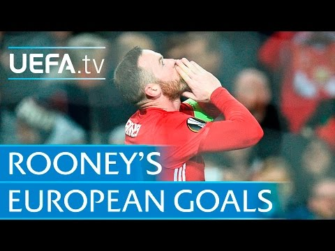 Wayne Rooney - All 39 Of His European Goals For Manchester United