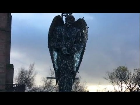 'Knife Angel' In Liverpool Highlights UK Knife Crime