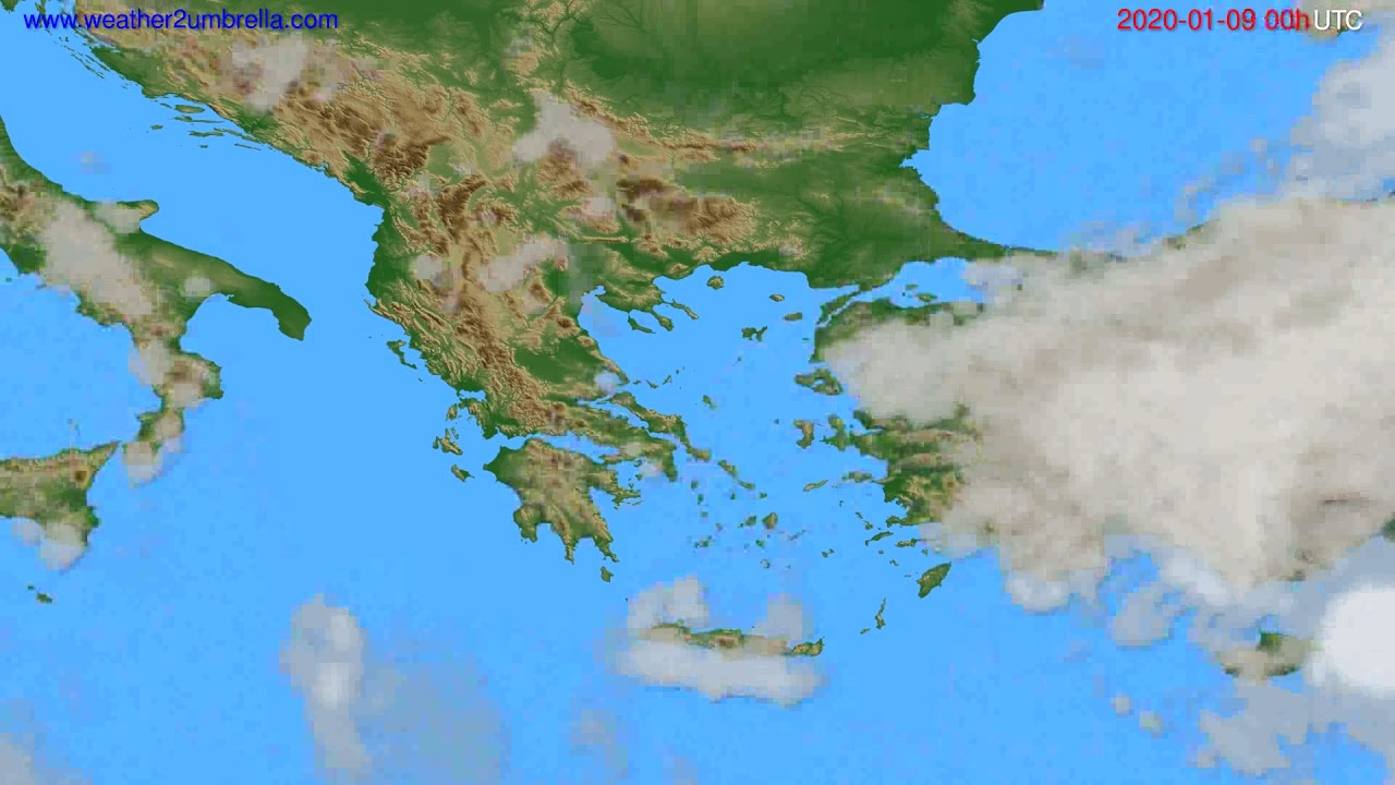 Cloud forecast Greece // modelrun: 00h UTC 2020-01-08