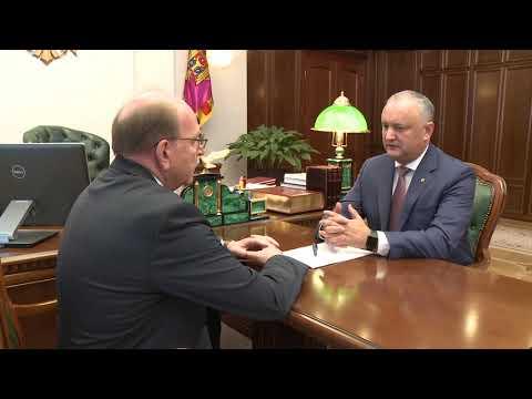 Igor Dodon a avut o întrevedere de lucru cu Oleg Vasnețov