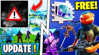 *NEW* Fortnite Update! | Free Rewards Fishing Event, Hurricane Coming, Snowy Map!