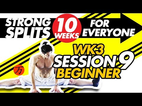 How To Do The Splits - Wk3 #09, Best BEGINNER Stretching Exercises FULL WORKOUT SESSION