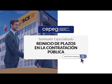Seminario sobre Reinicio de plazos en la Contratación Pública   CEPEG