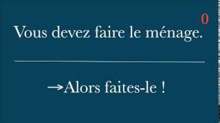 Apprendre Le Français : L'impératif, Exercice