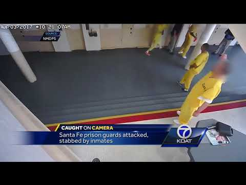 CAUGHT ON CAMERA: Inmates stab prison guards with homemade knife