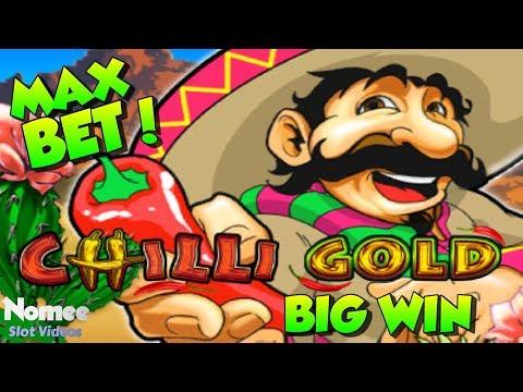 ★ BIG WIN! ★ CHILLI GOLD Slot Machine ★ MAX BET Long Play!