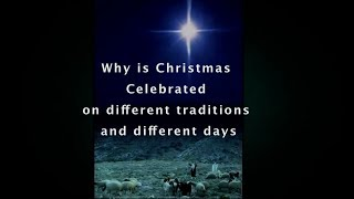 Why is Armenian Christmas on different Days