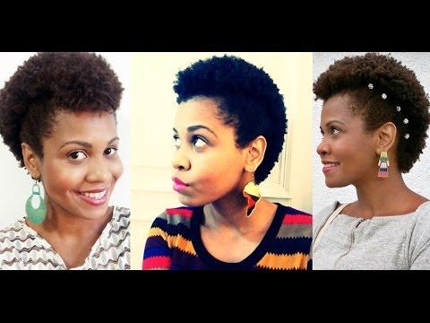 Penteados para cabelo crespo curto (Moicano)