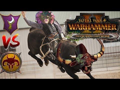 Dark Elves vs Beastmen| Total War Warhammer 2 - The Queen &  The Crone DLC