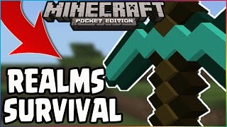 MCPE 0.16 UPDATE Q&A SMP SURVIVAL REALMS GAMEPLAY! JOIN ME! Minecraft PE (Pocket Edition)