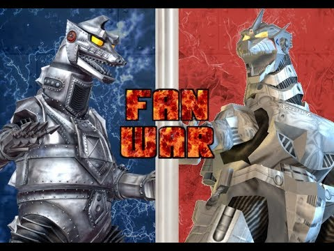 Fan War!!! Mechagodzilla Vs Kiryu