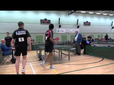 Table tennis  nationals at preston Doubles 2013