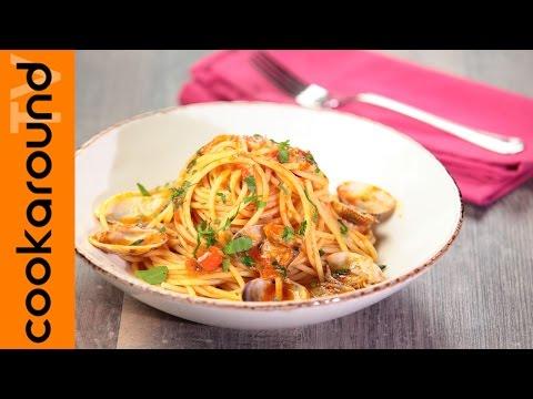 spaghetti alle vongole in rosso - la videoricetta