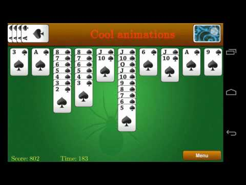 Video of Classic Spider Solitaire