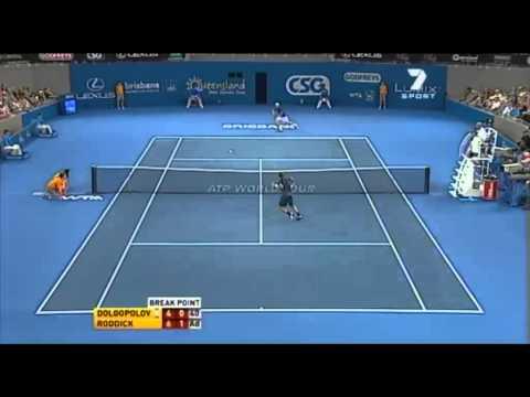 Dolgopolov vs Roddick, Brisbane