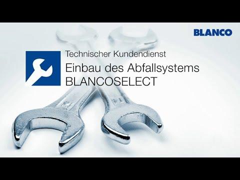 BLANCO - Einbau des Abfallsystems BLANCO SELECT